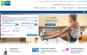 Preview 2 of the Holiday Inn Express website