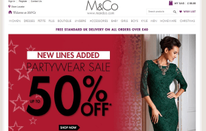 Preview 3 of the M&Co website