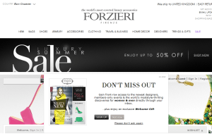 Preview 3 of the Forzieri website
