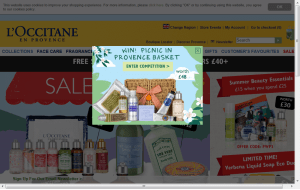 Preview 3 of the LOccitane website