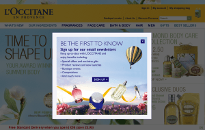 Preview 2 of the LOccitane website