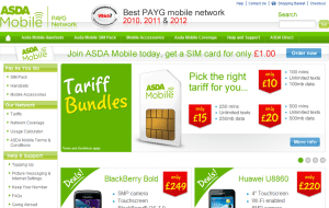 Preview 3 of the ASDA Mobile website