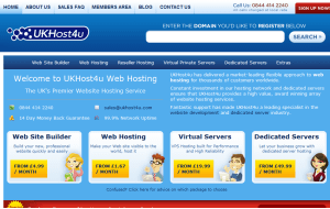Preview 3 of the UKHost4u website