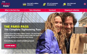 Preview 4 of the Paris Pass website