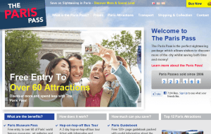 Preview 2 of the Paris Pass website