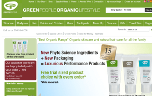 Preview 2 of the Green People website