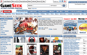 Preview 2 of the Gameseek website