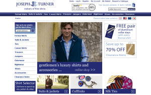 Preview 2 of the Joseph Turner Shirts website