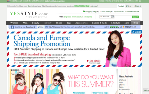 Preview 3 of the Yes Style website