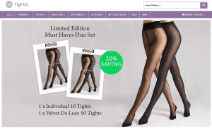 Preview 2 of the UK Tights website