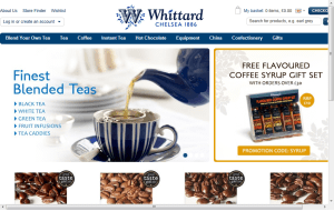 Preview 2 of the Whittard Of Chelsea website