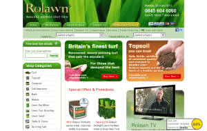 Preview 3 of the Rolawn Direct website