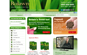 Preview 2 of the Rolawn Direct website