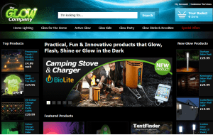 Preview 3 of the Glow Company website