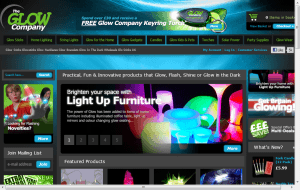 Preview 2 of the Glow Company website