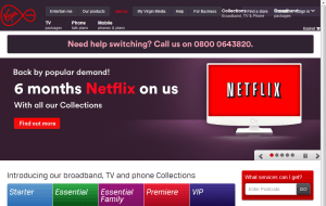 Preview 2 of the Virgin Media website