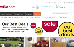 Preview 4 of the Wilko website