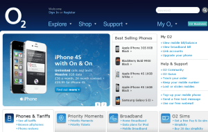 Preview 2 of the O2 Broadband website