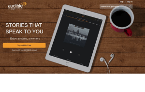 Preview 4 of the Audible website