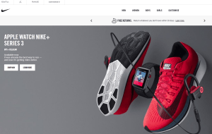 Preview 2 of the Nike Store website