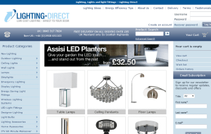 Preview 2 of the Lighting Direct website