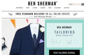 Preview 3 of the Ben Sherman website