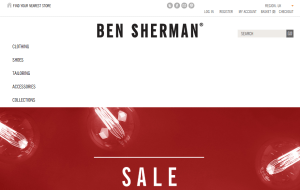 Preview 2 of the Ben Sherman website