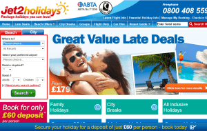 Preview 2 of the Jet2Holidays website