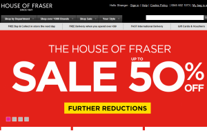 Preview 3 of the House Of Fraser website