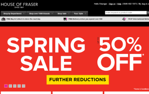 Preview 2 of the House Of Fraser website