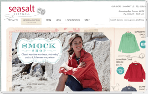 Preview 2 of the Seasalt Organic Clothing website