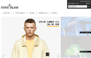 Preview 3 of the Stone Island Clothing website