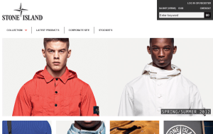 Preview 2 of the Stone Island Clothing website