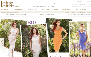 Preview 3 of the Designer Desirables website