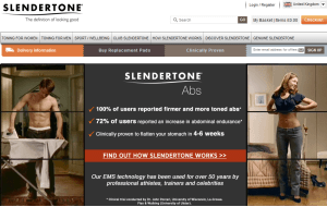 Preview 3 of the Slendertone website