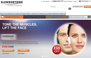 Preview 2 of the Slendertone website