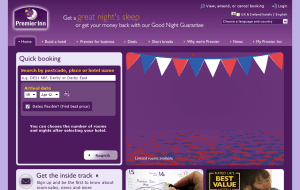 Preview 2 of the Premier Inn website