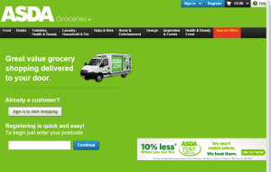 Preview 2 of the ASDA Groceries website