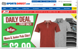 Preview 3 of the Sports Direct website