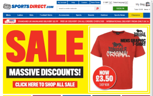 Preview 4 of the Sports Direct website