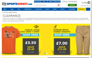 Preview 5 of the Sports Direct website