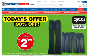 Preview 2 of the Sports Direct website