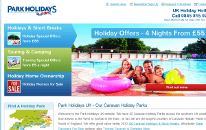 Preview 2 of the Park Holidays website
