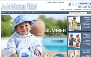 Preview 2 of the Jo Jo Maman Bebe website