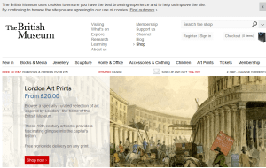 Preview 3 of the British Museum Online Store website