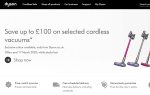 Preview 2 of the Dyson website
