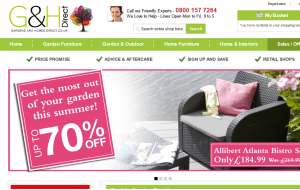 Preview 3 of the Gardens and Homes Direct website