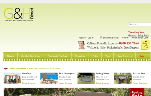 Preview 2 of the Gardens and Homes Direct website
