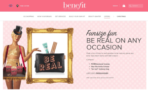 Preview 2 of the Benefit Cosmetics website