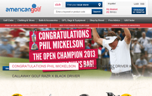 Preview 2 of the American Golf website